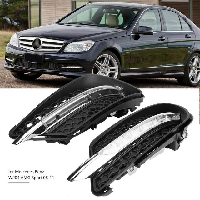 1pair Car Daytime Running Light Drl Led Lights Fog Lamp For Mercedes