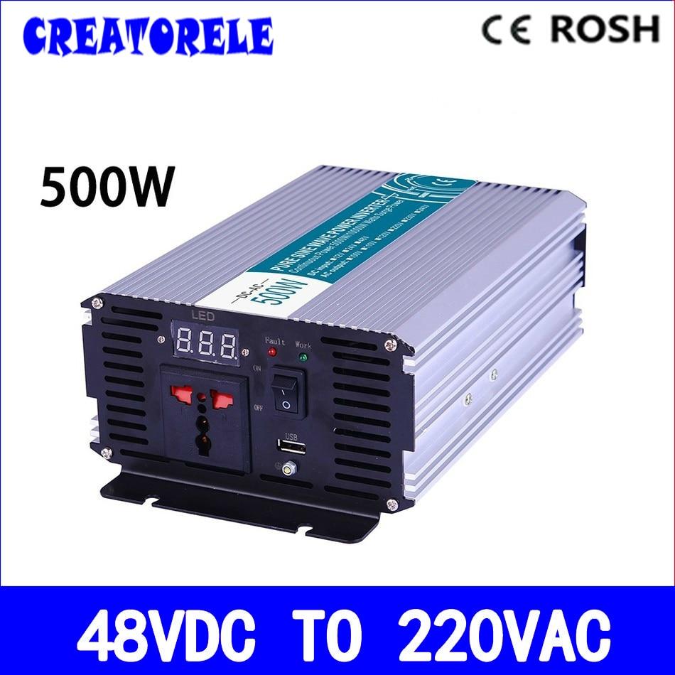 цена на P500-482 500w inverter 48v dc 220v ac inverter pure sine wave power inverter,inversor,voltage converter,solar inverter