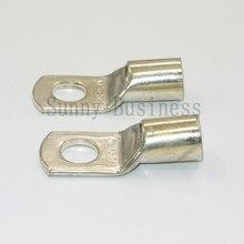 10 adet Cıvata Delik Kalaylı Bakır Kablo pabuçları akü kutup başları seti tel terminalleri bağlayıcı 70mm2 2/0AWG SC70 8 SC70 10 SC70 12