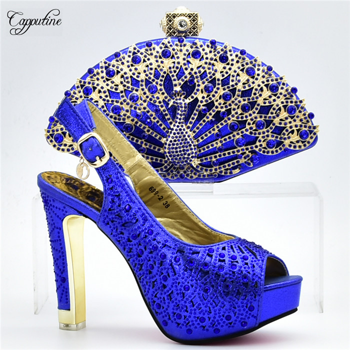 Amazing royal blue lady high heel sandal shoes and evening bag set perfect matching for evening dress  XY12 heel height 12CMAmazing royal blue lady high heel sandal shoes and evening bag set perfect matching for evening dress  XY12 heel height 12CM