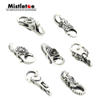Genuine 925 Sterling Silver Charms Elephant Flower Leaves Heart Locks Lobster Clasp Fit European Brand Troll