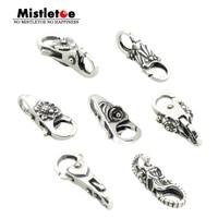 Genuine 925 Sterling Silver Charms Elephant Flower Leaves Heart Locks Lobster Clasp Fit European Brand Troll