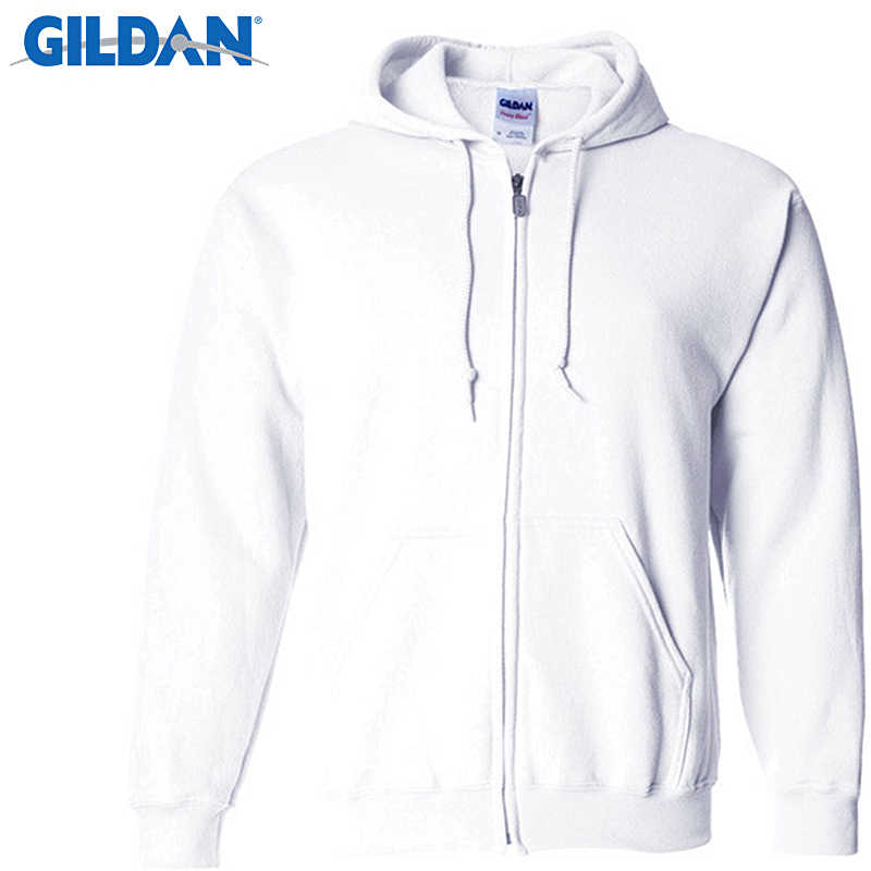 2548a462 ... Gildan Men's Cardigan Hoodies Sweatshirts Brand Clothing Fashion Zip  Hoodie Man Casual Slim Fit Pocket Sweatshirt
