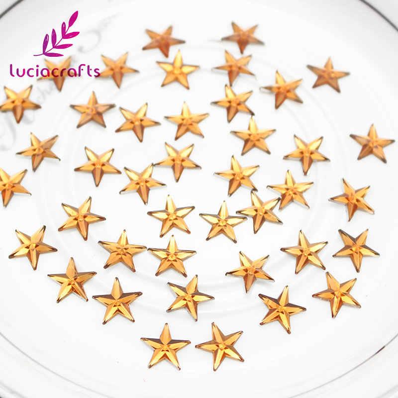 Lucia หัตถกรรม 10mm Star อะคริลิค rhinestone Art Rhinestones สำหรับ DIY 250 PCS/500 PCS G0419