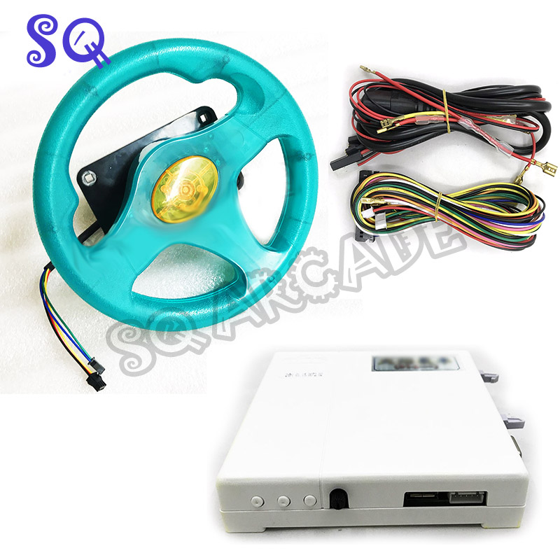 Fire Car 31 In 1 English Version Racing Game Board With Steering Wheel Wiring Harness For