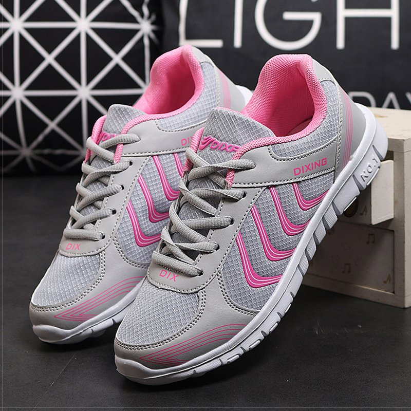 Women Shoes 2018 New Lightweight Sneakers Women Comfortable Flat Shoes Female Walking Casual Shoes Autumn Lace Up Tenis Feminino