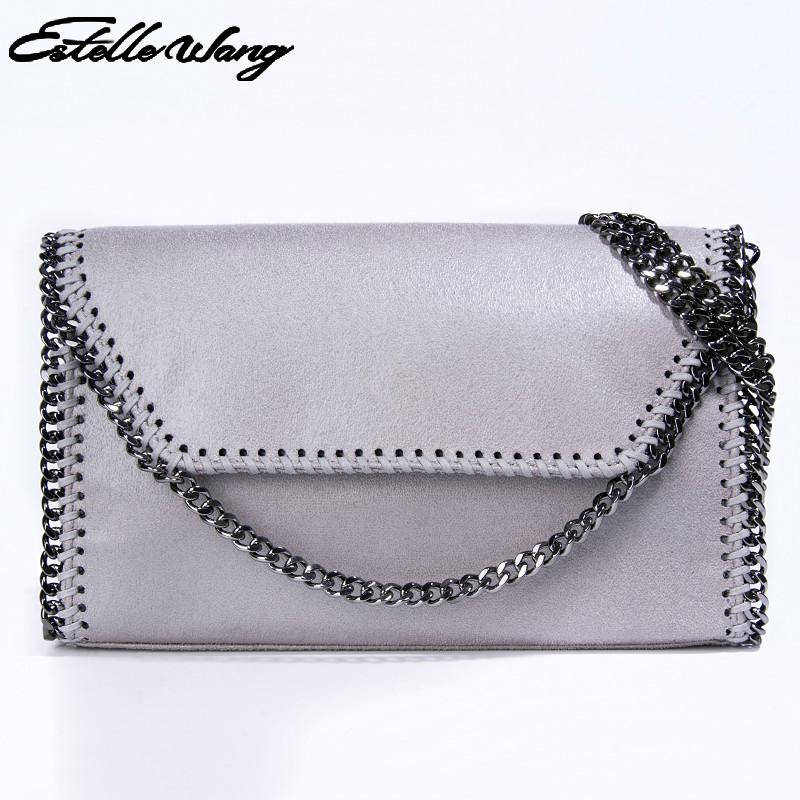 Import PVC Leather Single Shoulder Bag High Quality Summer Small Crossbody Bags For Women Ladies Hand Bags Stella Chain Handbag