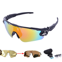 New 4 Lens Polarized Cycling Sunglasses Photochromic Racing UV400 Glasses Bicycle Bike Riding Eyewear Brand Designer Ciclismo