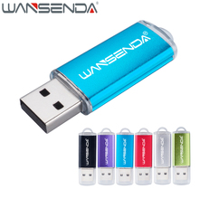 Wansenda 128 ГБ карту флэш-памяти с интерфейсом USB крошечная металлическая Флеш накопитель 64 ГБ 32 ГБ 16 ГБ 8 ГБ USB 2.0 Flash Drive флешки USB рукоять превью накопители