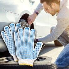 1 paar Auto Reparatur Anti-slip Handschuhe Tragen Ausrüstung Baumwolle Gleitschutz Punkt Kleber Motorräder Outdoor