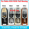 10 Pcs/lot For Nokia 6310 6310i High Quality Brandnew Mobile Phone Housing Cover Case ( No Keypad ) + Free Tools, Free Shipping