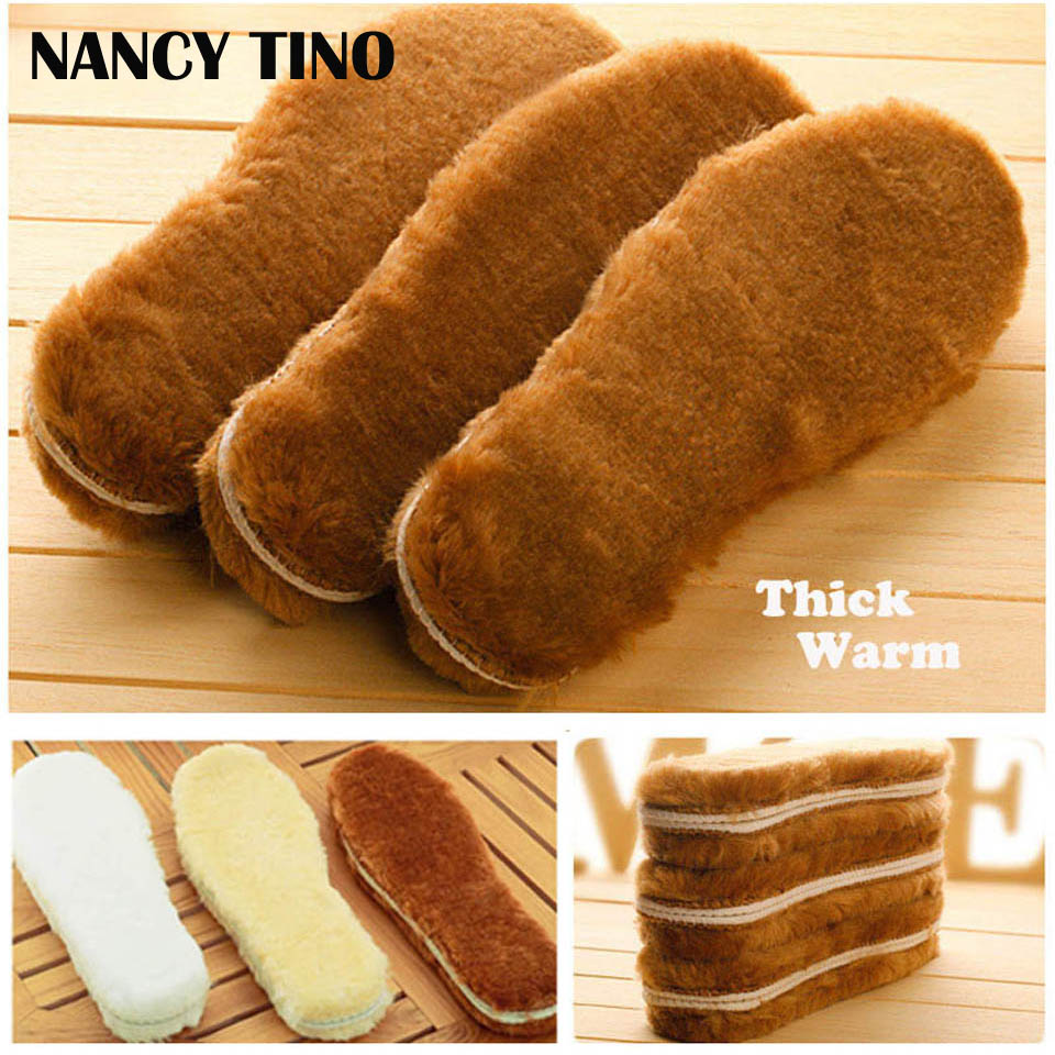 NANCY TINO Unisex Winter Warm Insoles For Shoes Soft Comfortable Men Women Shoe Insole Short Plush Warm Shoe Insole 1 Pair nancy кукла нэнси в голубой юбке плетение косичек nancy