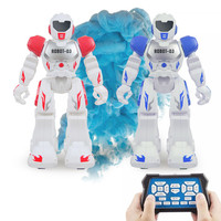 Blue&Red Infrared Remote Control Intelligent Robot Programming Toys High Tech Dancing English Language RC Toy For Children Gifts