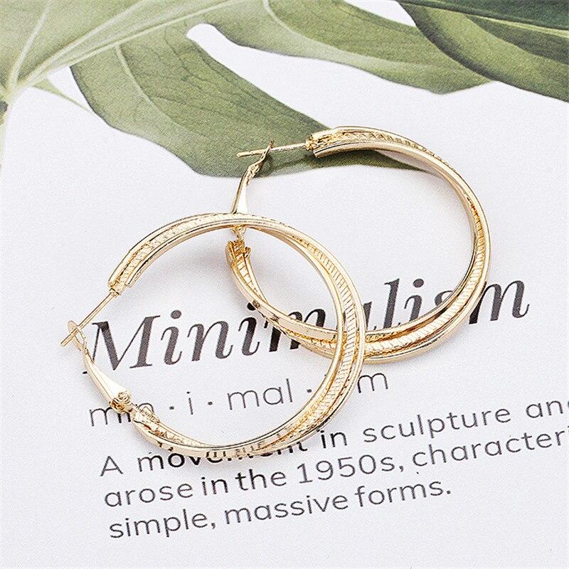 Simple Gold color Big Hoop Earring  5