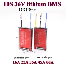10 S 36 V Lithium-Batterie Schutz Bord BMS mit Balance Wasserdichte 18650 Lipo Li-Ion 16A 25A 35A 45A 60A 10 zelle Equalizer PCM
