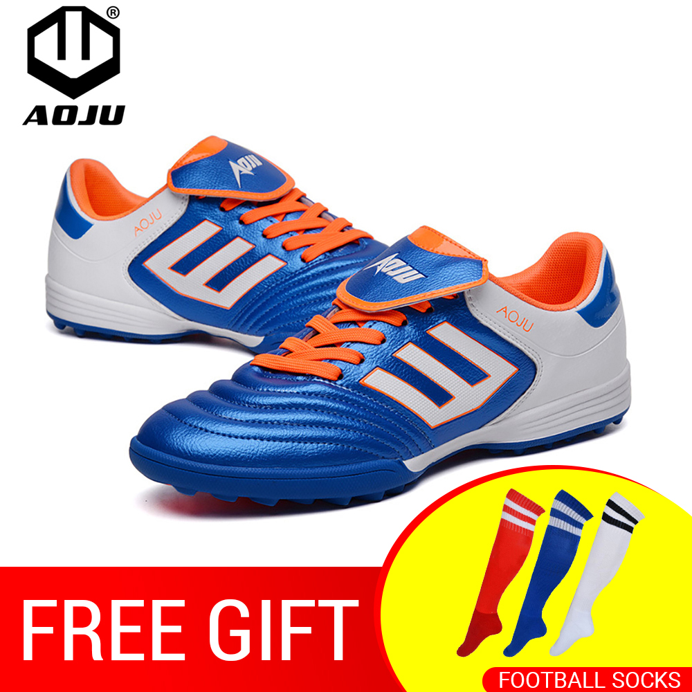 AOJU Men Soccer Boots Cleats Turf Football Shoes Teenager Boy Hard Court Outdoor Sports Sneakers Adult