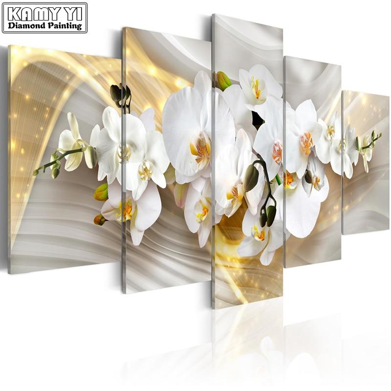 Plein carré forage Diamant broderie fleur de prunier 5D BRICOLAGE diamant peinture Point De Croix Multi-photo décoration