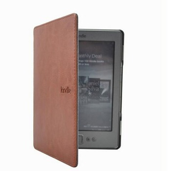 """1PC Leather Cover Case for Amazon Kindle 4/5 E-book Reader 6"""" Inch (not fit for kindle touch) 1"""