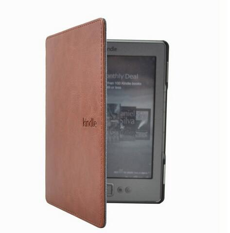 1PC skórzany pokrowiec na Amazon Kindle 4/5 E-book Reader 6