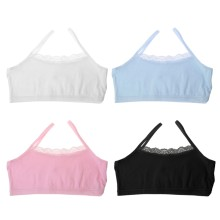 Girl Underwear Lace Bras Cotton Camisoles Sports Bra Top For Teens Training Bra(China)
