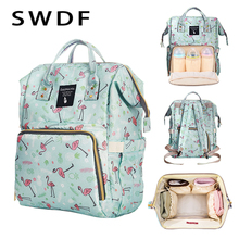 SWDF Fashion Baby Nappy Bag Large Capacity Diaper Bag Travel Backpack Mummy Nursing Bags Multifunctional Maternity Bag for Mom hello kitty large capacity maternity backpack nappy diaper backpacks travel multifunctional mother mummy mom maternity nappy bag
