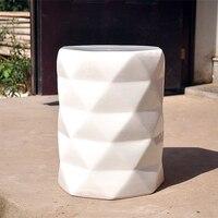 Chinese White Color Diamond Ceramic Porcelain Stool