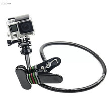 360 Rotating Flexible Snake Bracket Lazy Clip 27 inch Long Arm Clamp Mount Holder Stand For Gopro Hero 7 6 5 Camera Accessories