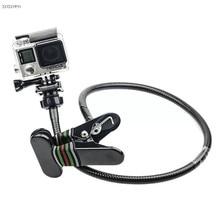 360 support de serpent Flexible rotatif paresseux Clip 27 pouces Long bras pince support de montage support pour Gopro Hero 7 6 5 accessoires de caméra