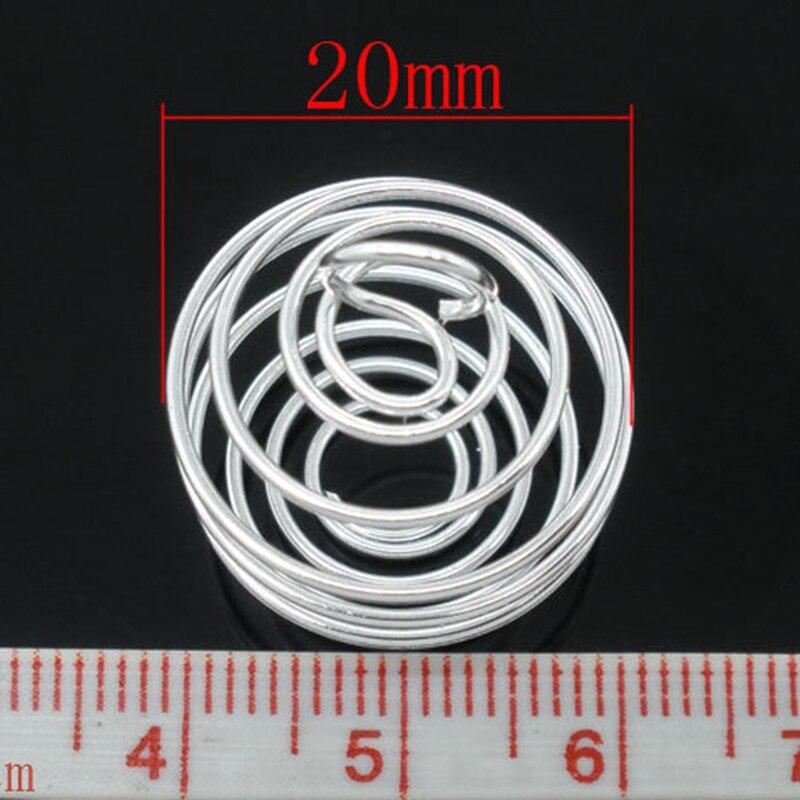 1000 stücke Anhänger Silber Überzogene Spirale Perlen Käfige Runde Metall Schmuck DIY Erkenntnisse Charms 20x25mm-in Anhänger aus Schmuck und Accessoires bei  Gruppe 2