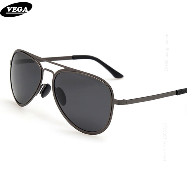 82d17db51ea VEGA Classic Wrap Around Sunglasses Women Men HD Vision Polarized Sun  Glasses 2017 Flat Top Metal