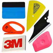 EHDIS 6pcs Car Film Wrap Vinyl Tool Kit 3M Felt Squeegee Snitty Cutter 3M Wool Squeegee Vinyl Stickers Install Tools Kit AT010