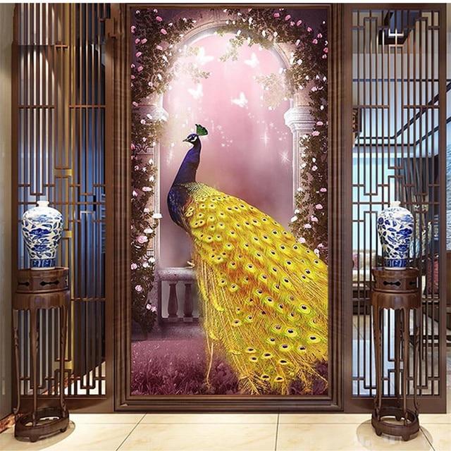 Decoration Murale Pour Couloir personnalisé 3d grand photo peintures murales pour couloir porte d