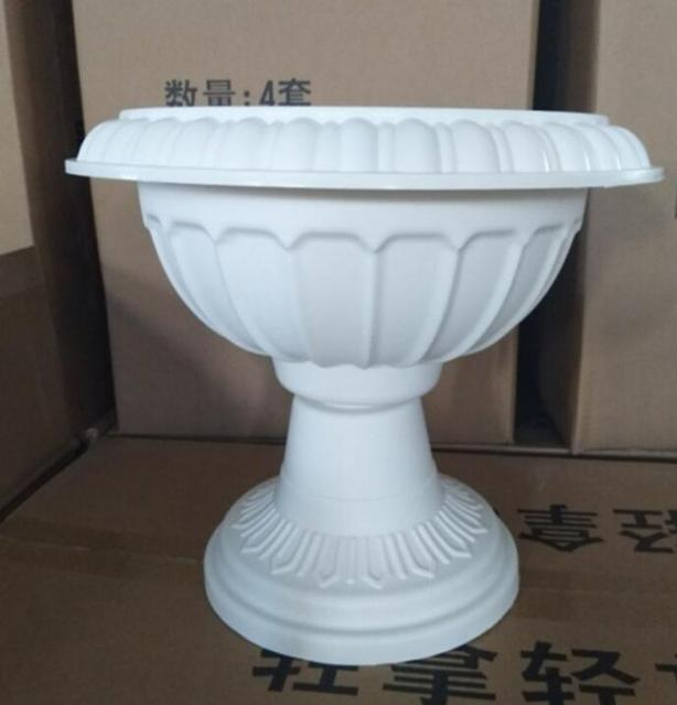 Wholesale white plastic round pvc roman flower pots for wedding wholesale white plastic round pvc roman flower pots for wedding party events decoration mightylinksfo