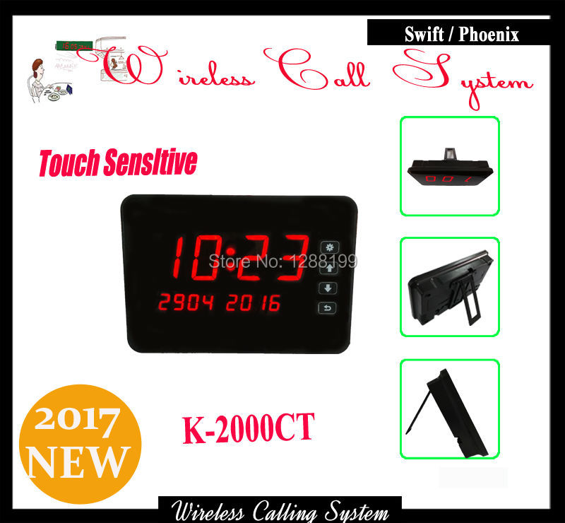 2017 Touch Sensitive Pager for calling system For Restaurant showing call information from Call Button 2 receivers 60 buzzers wireless restaurant buzzer caller table call calling button waiter pager system