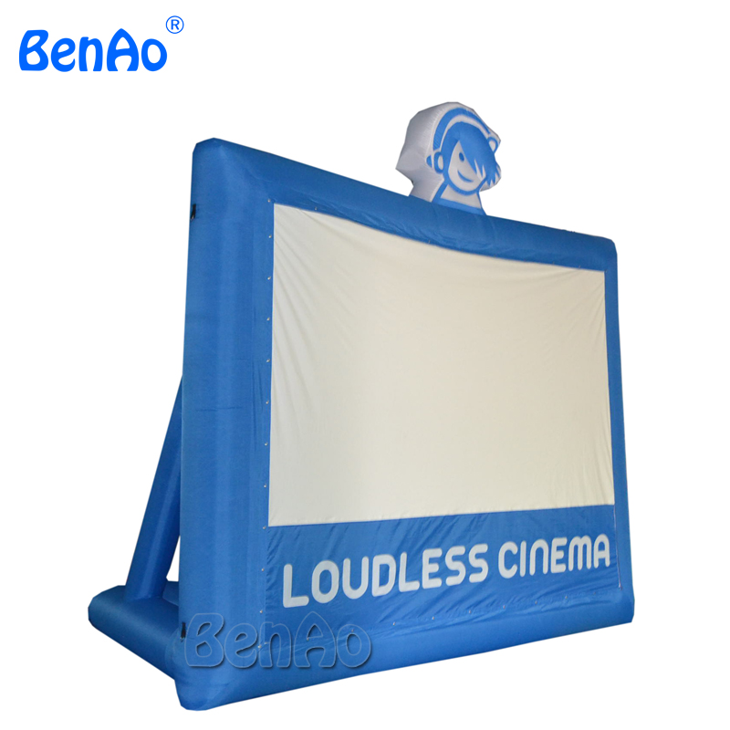 M014  Free shipping 397*224 cm screen size  Giant Inflatable Movie Screen, Outdoor Inflatable Screen With Blower full pvc inflatable movie screen giant outdoor inflatable movie screen