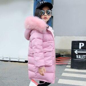 Image 2 -  30องศาเซลเซียสฤดูหนาวหญิงยาวส่วนเสื้อเด็กBig Furแจ็คเก็ตอุ่นเสื้อเด็กHooded Windproofเสื้อ