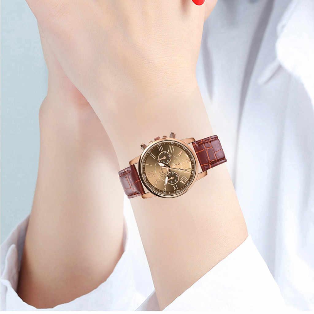 New Fashion Women Leather Band  Quartz Analog Wrist Watch Female girlfriend woman dress watch Party decoration women watches