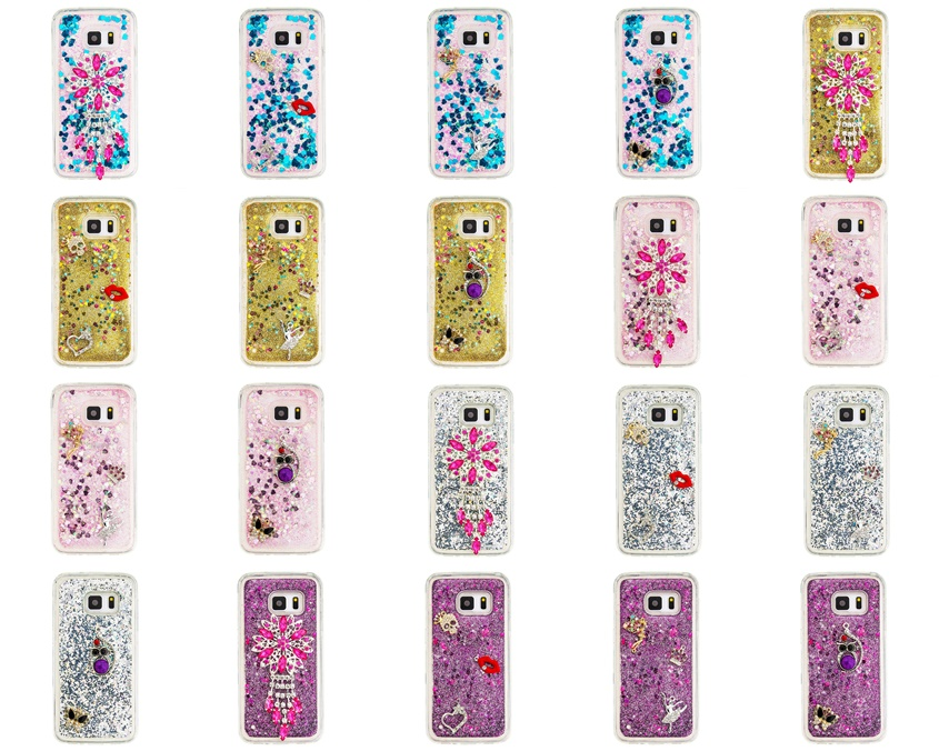 Phone Bags & Cases Bling Owl Angel Kiss Flower Crystal Diamond Liquid Sand Quicksand Tpu Case For Samsung Galaxy S6 S6 Edge S6 Edge Plus Back Cover Cellphones & Telecommunications