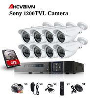 1080P Video Surveillance System 8CH CCTV Security Kit 8PCS 1080P Security Camera Super Night Vision 8 CH 1080N CCTV DVR