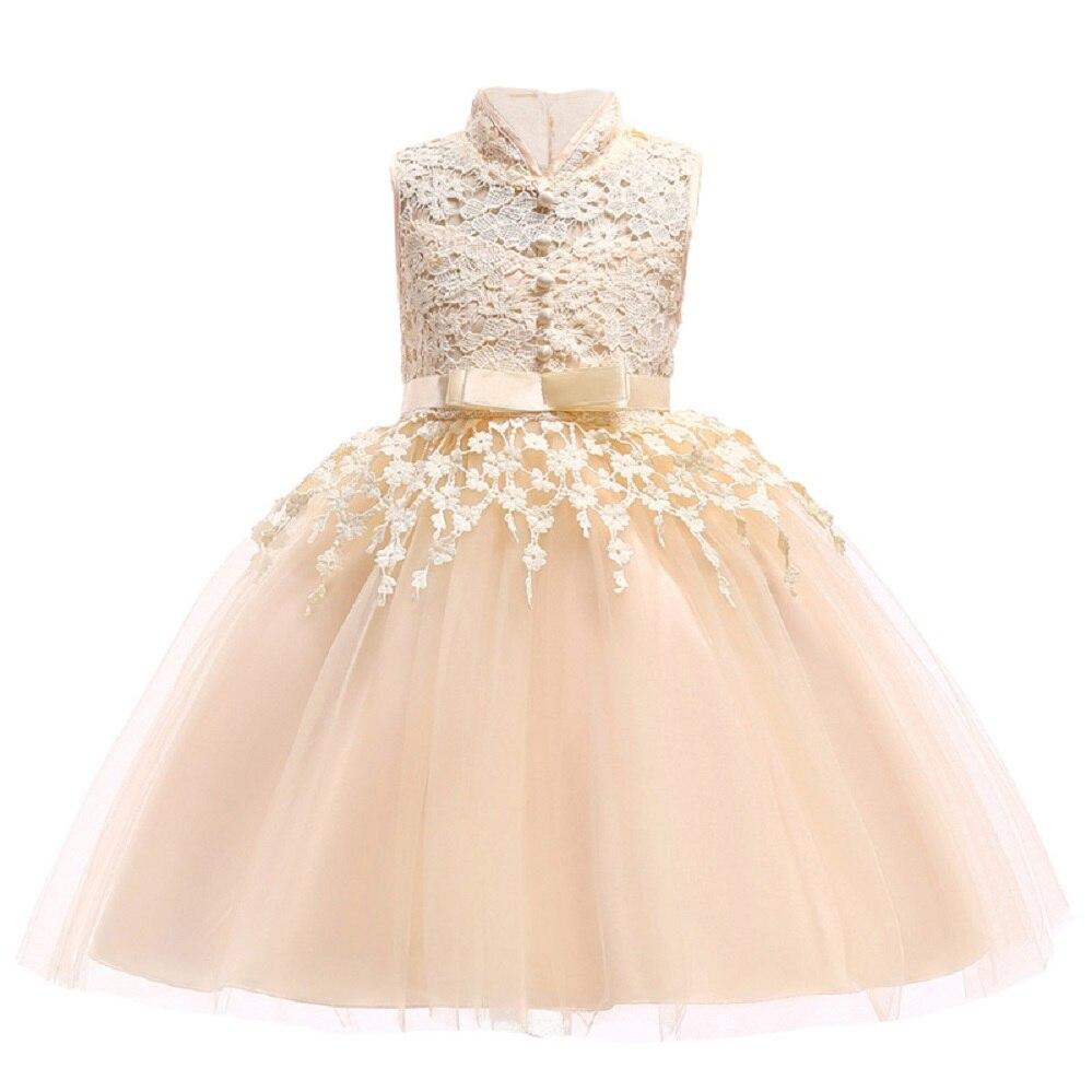 Children Dresses Elegant Toddler Girls 2018 Summer Baby Girls Lace Princess Dress Kids Party Dresses For Girls 3 5 7 9 10 Years