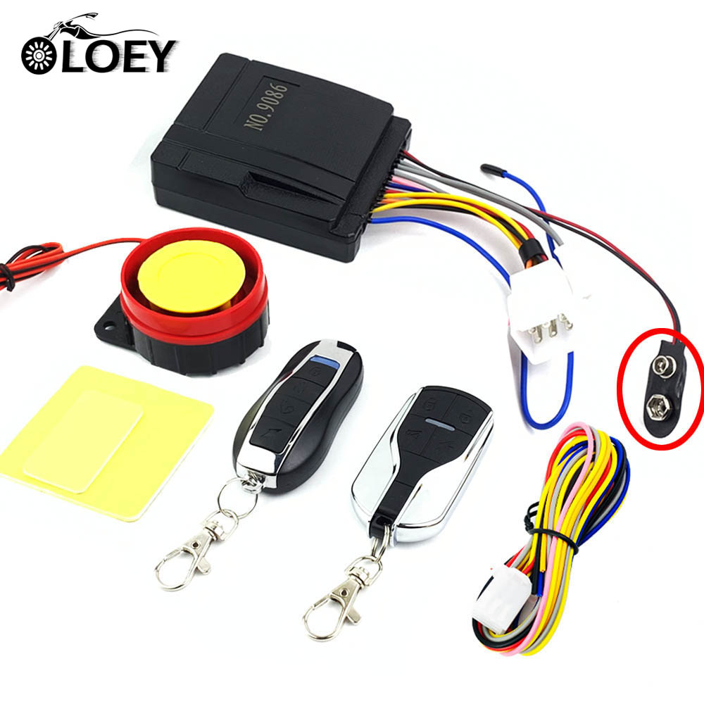 Universal Motorcycle Alarm System Scooter Anti theft Security Alarm Speaker Moto Remote Control Engine Start Anti