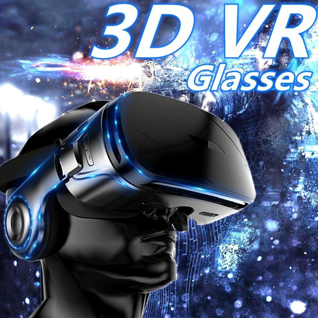 VR Glasses Virtual Reality 3D Panoramic 360g Stereo Cinema Watching Movie, Play Games. With Manual Headphones(China)
