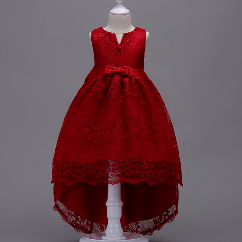 Summer-Flower-Lace-Girls-Wedding-Pageant-Party-Dresses-Princess-Formal-Prom-Gowns-Size-3-14-Years