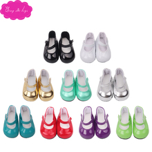 18 inch Girls doll shoes round toe dress shoe American newborn Baby toys fit 43 cm baby gift for a child s1