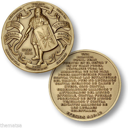Armor Of God - High Relief - EPHESIANS 6:11-13 Bronze Challenge Coin, Free Shipping, High Quality,