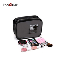 TANGIMP Transparent PVC Cosmetic Bags Women Beauty Case Waterproof Toiletry Bags Travel Organizer Necessary Makeup Bag