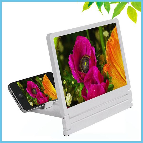 3X Mobile Phone Screen Magnifier HD Fresnel Lens Expander Enlarge Magnifier With Holder Stand for Mobile Watching TV 2