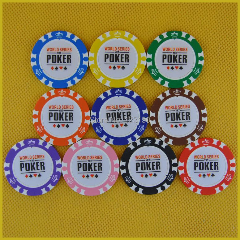 6006 poker 50pcs/pack Clay 14g Poker Chips insert metal, no face value WSOP chips, Free shipping