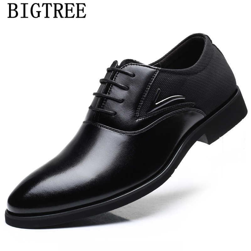 Zapatos de negocios de cuero Oxford para Hombre, Zapatos formales clásicos para Hombre, Zapatos elegantes de talla grande Oxford para Hombre