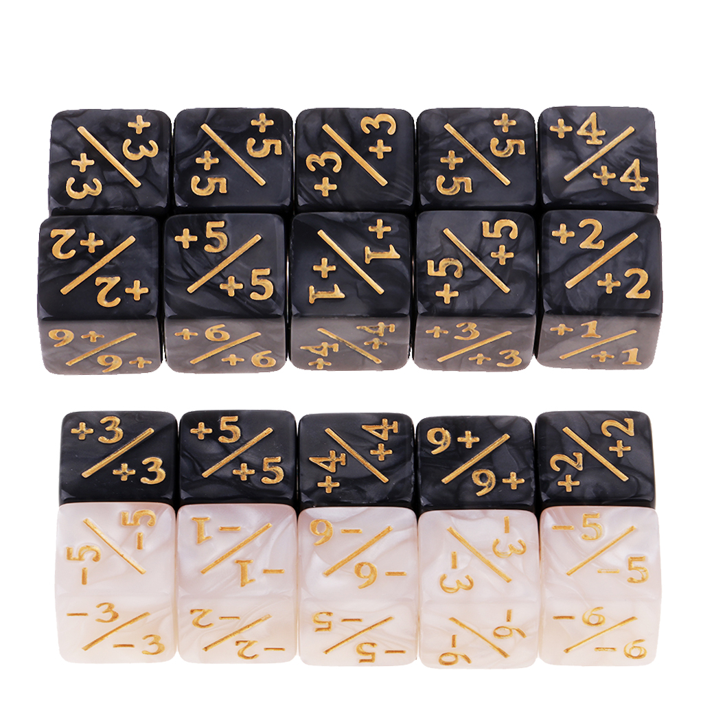 20pcs High Quality Resin Fractional Dice Set For Kids Math Addition Subtraction Learning Dices